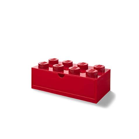 Cajón de escritorio 8 rojo