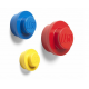 Colgador rojo, azul amarillo