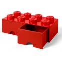 Caja de almacenaje 8 con cajones rojo