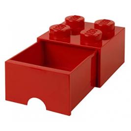 Caja de almacenaje 4 con cajón rojo