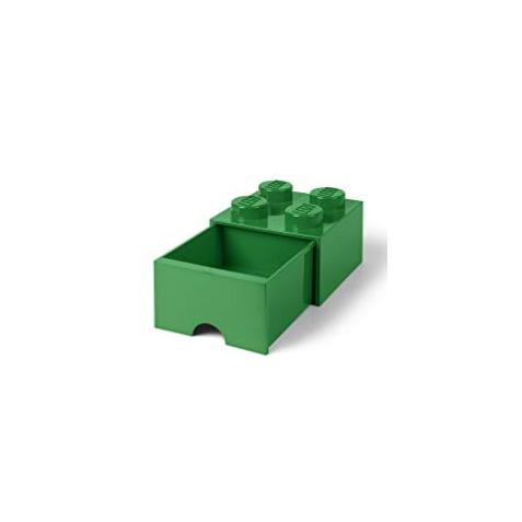 Caja de almacenaje 4 con cajón verde