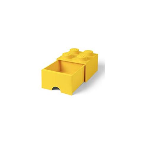 Caja de almacenaje 4 con cajón amarillo