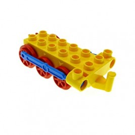 Duplo, Train Steam Engine Chassis with Blue Drive Rod