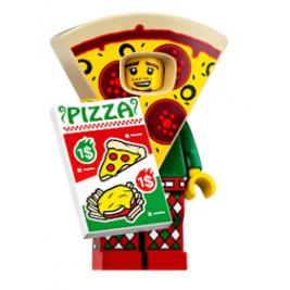 Chico del disfraz de pizza