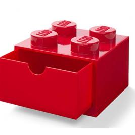 Cajón de escritorio 4 rojo