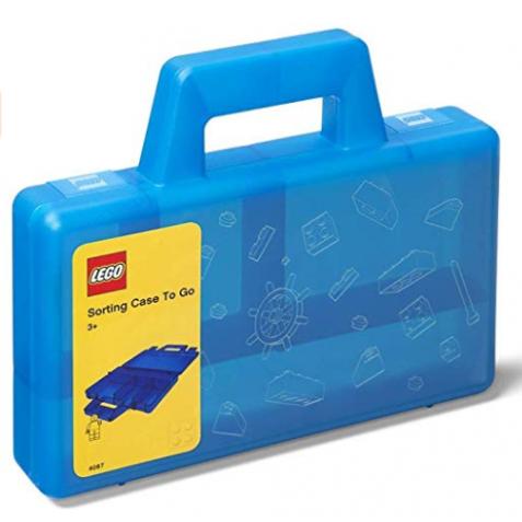Maletín de ordenación LEGO azul