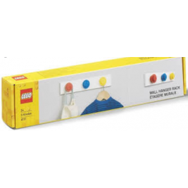 Colgador rojo, azul y amarillo
