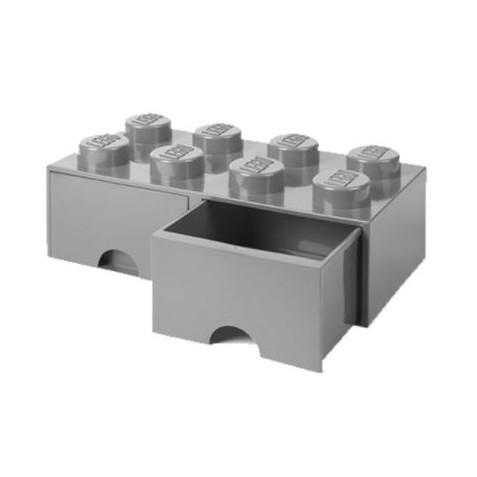 Caja de almacenaje 8 con cajones gris