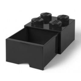 Caja almacenaje 4 con cajón - Negro