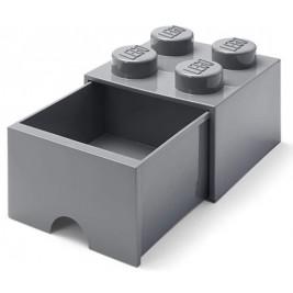Caja almacenaje 4 con cajón - Gris Oscuro