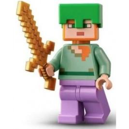 Alex con casco verde