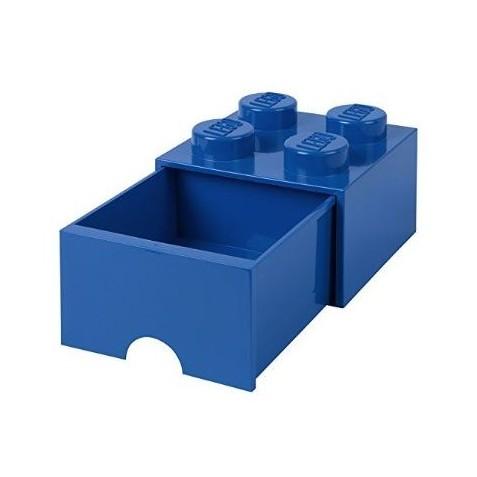 Caja de almacenaje 4 con cajón azul