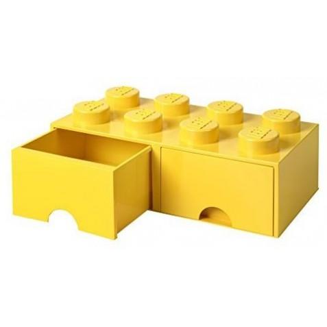 Caja de almacenaje 8 con cajón amarillo