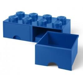 Caja de almacenaje 8 con cajones azul