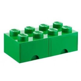Caja de almacenaje 8 con cajones verde