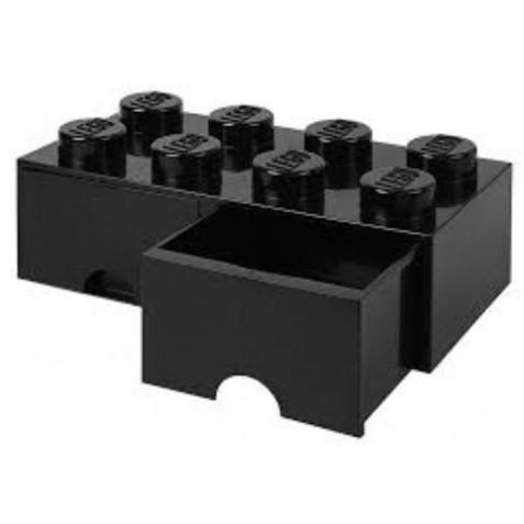 Caja de almacenaje 8 con cajones negro