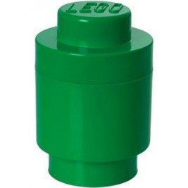 Storage Brick 1 Round Dark Green